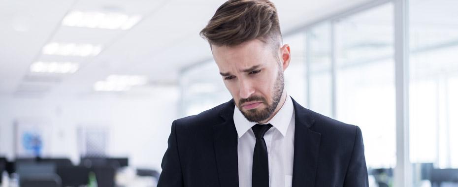 Расстроенный бизнесмен